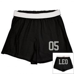 Leo Sporty Zodiac Cheer Shorts