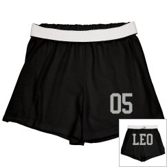 Leo Sporty Zodiac Cheer Shorts
