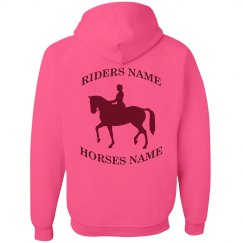 Rider and horse name hoodie
