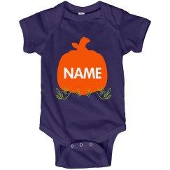 Custom Halloween Pumpkin For Baby