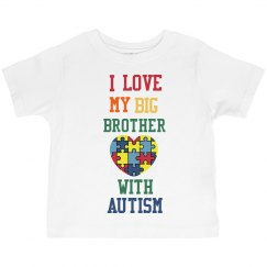 I 💙 My Big Brother Toddler Shirt