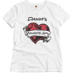 danny's fav girl tshirt
