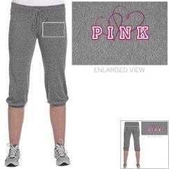 Pink Love Crop Pants