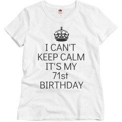 71st Birthday