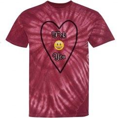 F You tie dye shirt
