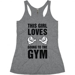 This Girl Loves Going To The Gym