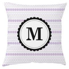 Custom Monogram Throw Pillow