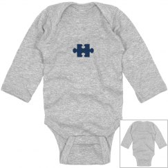 Autism Unique Snowflake Infant Long Sleeve Onesie
