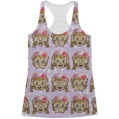 Funny Emoji All Over Print Tank