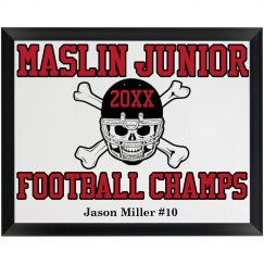 Football Champ Plaque