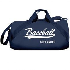 Alexander's Baseball bag
