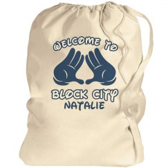 Block City Volleyball Laundry Bag