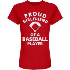 Proud Girlfriend Baseball Player