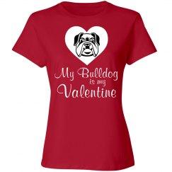 My bulldog is my valentine