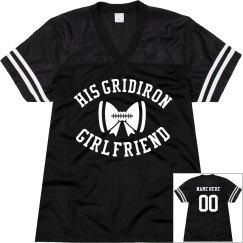 A Gridiron Football Girlfriend Custom Mesh Jersey