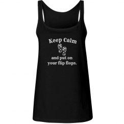 Keep Calm Flip Flops - tank red