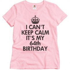 It's my 64th birthday