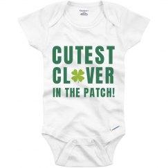 St Patricks Day Cute Clover Baby