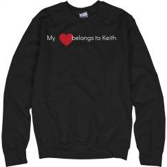 Heart belongs to Keith