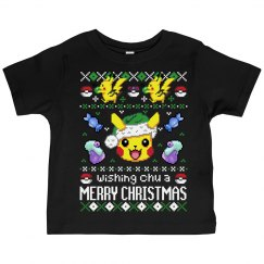 Wishing Chu A Merry Christmas Toddler Tee
