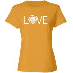 Love firefighting shirt