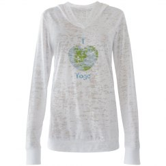 I Love Yoga, Earth Hoodie