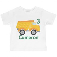 Birthday Boy Dump Truck