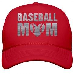 Silver Metallic Baseball Mom Bling