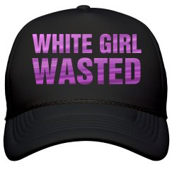 White Girl Wasted Metallic Text