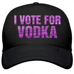 I Vote For Vodka Metallic Text