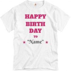"Happy birthday to ""Name"""