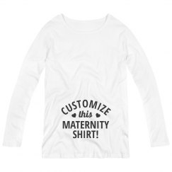 Customize A Maternity Shirt