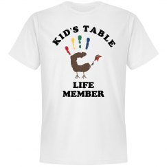 Kid's Table Life Member
