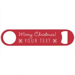 Merry Christmas Gift Bottle Opener
