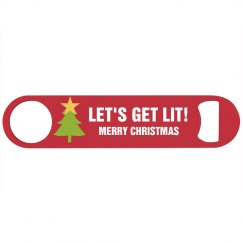 Let's Get Lit Christmas Beer Opener