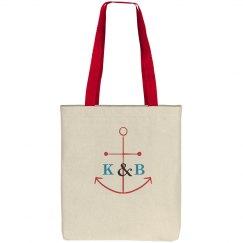 Nautical Monogram Totebag