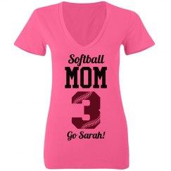 Neon Softball Mom