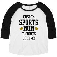 Custom Plus Size Bling Sport Mom