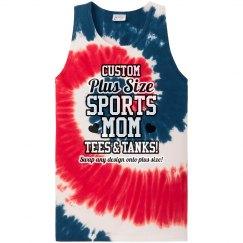 Custom Sports Mom Tie Dye