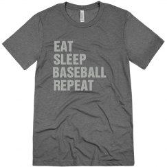 Eat sleep baseball repeat