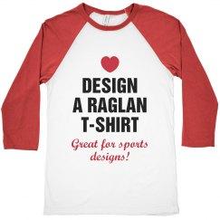 Custom Raglan Crop Top