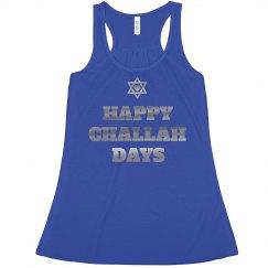 Silver Metallic Happy Challah Days