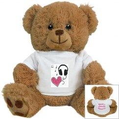 Music Heart White Bear