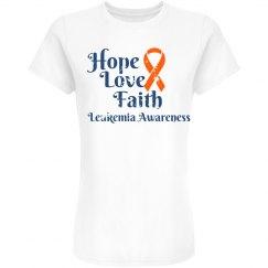 Hope Love Faith Leukemia