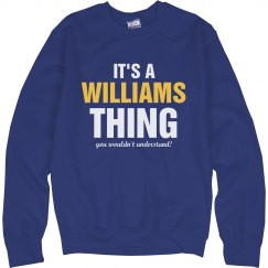 It's a William Thing