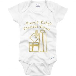 Mommy & Daddy's Christmas Present Gold