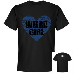 Weird Girl Edgy Heart Blue