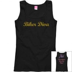 Rhinestone Biker Diva