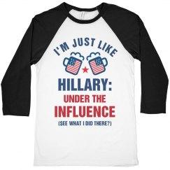 Funny Anti-Hillary Patriotic Tee