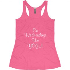 Wednesday We Yoga Pink